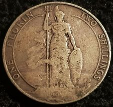 1902 Edward VII .925 Silver Florin Coin Lot G2