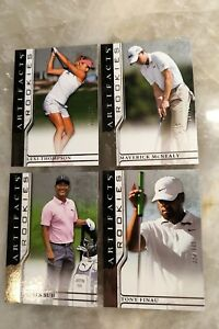 2021 Upper Deck Artifacts Golf Rookies 4 Cards - Maverick McNealy Finau Lexi Suh