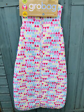 NEW The Original Grobag Sleeping Bag 18-36 Months 2.5 Tog Pink Triangle Pattern