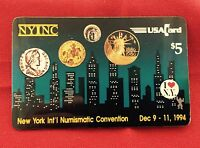 NYINC New York Int'l Numismatic Convention $5.00 Phone Card Dec 9 - 11,1994 JP30