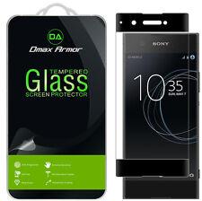 Sony Xperia XA1 Tempered Glass Screen Protector Saver Full Cover (Black)