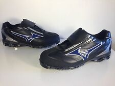 Mizuno Baseball Cleats 9 Spike Pro Limited Low G4 Black Leather NWOB Mens Sz 15