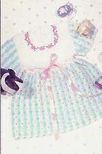 PRETTY Striped Easter Toddler Dress/Crochet Pattern Instructions