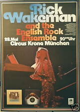 RICK WAKEMAN CONCERT TOUR POSTER 1976 NO EARTHLY CONNECTION YES