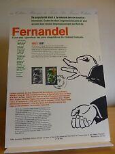 Document philatélique 1er jour   6 fiches Coluche Bourvil Fernandel J. Baker