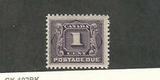 Canada, Postage Stamp, #J1 Mint LH, 1903 Postage Due