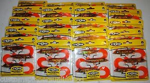 "20x 4"" CURL TAIL ORANGE PIKE Storm WildEye Live Swim Jig Bass WLCPK04#OPK 20pks"