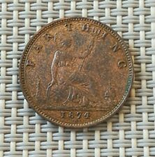 Great Britain Farthing 1874 H unc great condition rare KM# 753
