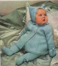 Vintage Knitting Pattern for Baby Pram Set for Boy or Girl