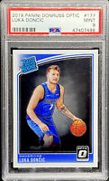 Luka Doncic 2018-19 Donruss Optic #177 Mavericks RC Rookie MINT PSA 9