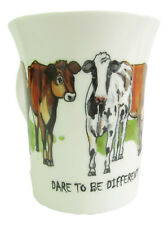 """Cow Bone China Mug """"Dare to be Different"""" Dairy Cows"""