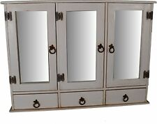 Mexico Spiegelschrank - Massivholz Möbel Pinie Weiß (10617) Mexiko