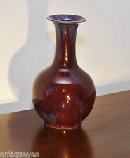 Very fine ANTIQUE Chinese Flambe Ox Blood Red Glazed Sang de boeuf  Vase