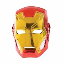 Child Iron Man 1/2 Face Metallic Mask Avengers Superhero Fancy Dress