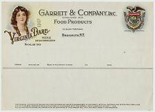 RARE Orig ca 1910s Virginia Dare Wine Advertising Billhead Color Lithograph !