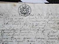 LOTTO PERGAMENA PARCHMENT BELLA SCRITTURA VELIN VELLUM ANTICO MANOSCRITTO 1700
