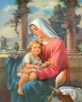 Madonna and Child 8x10 Mary Jesus Baby Catholic Print 8 x 10 Christian Art