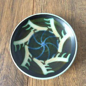 "Iden Rye Pottery Bright 4"" 10cm Pin Trinket dish Wax resist by Dennis Townsend"