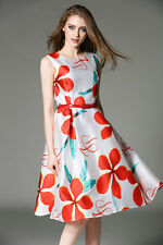 Top Selling White Red Western Digital Printed Dress For Girl Women Sevenfold