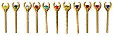 ☀️ Lego Pharaoh Quest GOLD STAFF Weapon Minifig Diamond Jewel Lot of 11 Gems