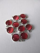 LI25 10 un. 12 mm Rosa Cateye Cabujón enlaces fabricación de joyas Craft UK