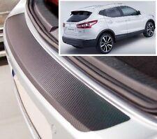 Nissan Qashqai J11 - Carbon Style rear Bumper Protector