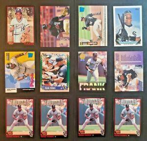 Lot of 12 - 1993-1996 Frank Thomas Variety Lot - Topps, Upper Deck, Fleer & More