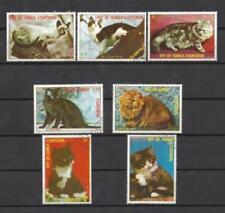 Chats Guinée équatoriale (17) série complète de 7 timbres oblitérés