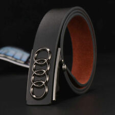 Audi Mens Designer Leather Belts Black Waistband strap Automatic Buckle Casual