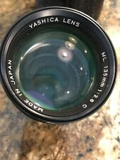 Yashica Ml 135mm 1:2.8 Camera Lens And Case
