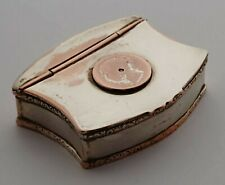 More details for charming victorian silver plated snuff box.
