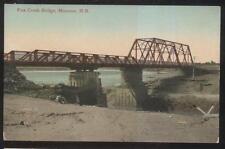 POSTCARD MONCTON N.B. CANADA FOX CREEK STEEL SPAN BRIDGE 1907