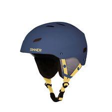 Sinner Bingham Youth Small Adult Ski Snowboard Helmet Matte Blue Small