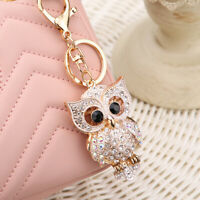 Keychain Crystal Key Chain Car Handbag Bag Accessories Pendent Keyring Owl