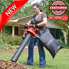 Leaf Vac Blower Shredder Vacuum Handheld Bag 2 Speed Electric Mulcher Yard Lawn