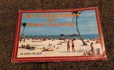 Vintage Postcard Folder Unposted Fort Myers Fl Florida