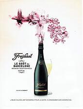 Publicité Advertising 028  2009  champagne Freixenet Brut Cordon negro