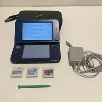 """new"" Nintendo 3DS XL Limited Edition Purple Galaxy HandHeld Console Bundle LOOK"