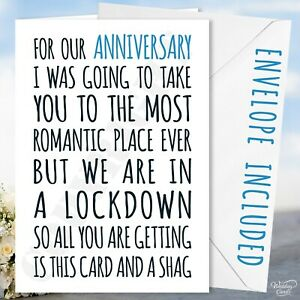 Anniversary Card Funny Holiday Lockdown Virus Boyfriend Girlfriend Wife Husband