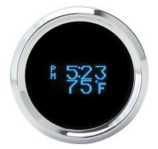 Dakota Digital Round Digital Clock Date Temperature Gauge Blue Display SLX-16-1
