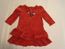 GYMBOREE Baby 6-12 Month Winter Penguin Velour Dress NWT