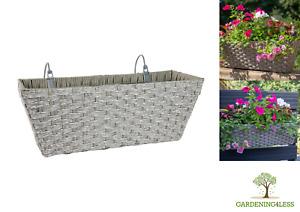 Multi Placement Easy Fill Mountain Grass Effect Hanging Basket Planter Garden