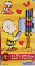Peanuts Valentines Cards With Pencils 16 Total NEW