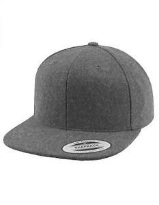 Melton Wool Snapback Cap, Grüne Schirmunterseite | FLEXFIT