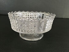 Antique Thousand Eye clear pressed glass compote Adams & Co. 1874 - 1891
