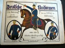 Deutsche Uniformen, handmade manuscript book with 269 colored photos, 36 pages
