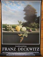 FRANZ DECKWITZ AUSSTELLUNG  1995  orig.Concert-Konzert-Tour- Poster-Plakat  USED