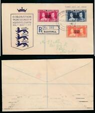 COOK ISLANDS 1937 CORONATION ILLUSTRATED FDC REGISTERED RAROTONGA