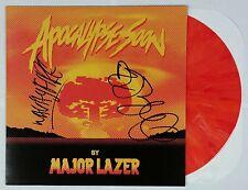 """MAJOR LAZER SIGNED APOCALYPSE SOON 12"""" LP ORANGE SWIRL VINYL W/ COA DIPLO"""