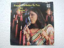 MAYA HAPPY BITHDAY TO YOU english rare EP RECORD 45 vinyl INDIA 1979 EX